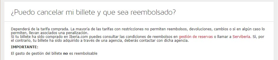 Iberia cancelacion billete enfermedad
